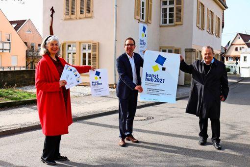Kulturamtsleiterin Dorothea Wissmann-Steiner, Geschäftsführer Marcus Meyer und Kulturkreis-Vorsitzender Wolfgang Hauger (von links) freuen sich auf den neuen Kunstpreis.  Foto: Eva Herschmann