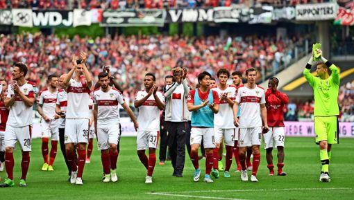 Wie absolviert der VfB Stuttgart die Relegationsspiele am 23. und 27. Mai? Foto: dpa, Silas Stein