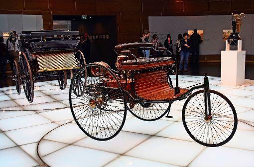 Der Benz Patent-Motorwagen aus dem Jahr 1886 gilt als erstes Automobil der Welt. Foto: Sass-Baitis