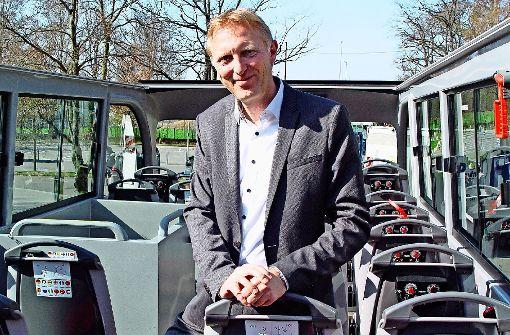 """Armin Dellnitz, Geschäftsführer von Stuttgart Marketing, lädt zur """"Grünen Tour"""" über Degerloch ein. Foto: max"""