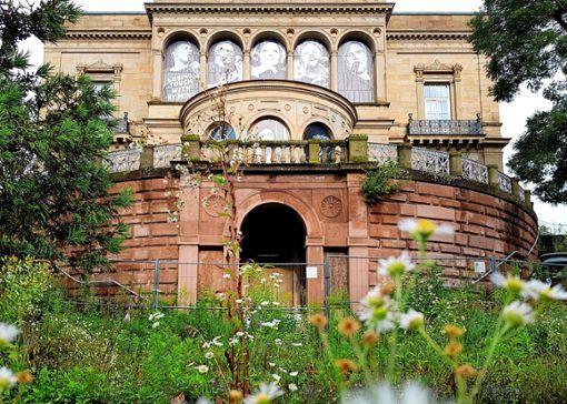 """""""Offenes Haus der Musik"""": Mit der Fertigstellung der Sanierung samt Anbau der Villa Berg wird bis zum Herbst 2026 gerechnet. Foto: Tatjana Eberhardt"""