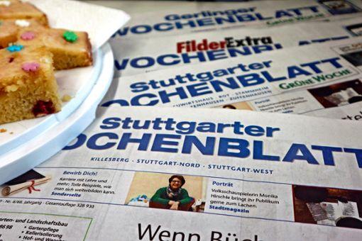 """Das Stuttgarter Wochenblatt und das Filder Extra Wochenblatt feiern 65. Geburtstag des Stuttgarter Wochenblatts – und freuen sich über Ihre """"Geschichten mit Herzblut"""". Foto: Katrin Schenk"""