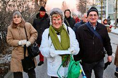 Zum ersten Mal demonstriert hat Hannelore Lamneck gemeinsam mit Erich Hinkelmann. Foto: Pehar
