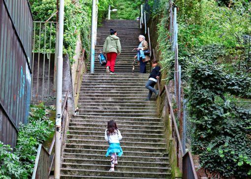 Stuttgarts Markenzeichen sind die vielen Treppen, die sogenannten Stäffele. Sie können virtuell auch auf einer neuen App namens lialo begangen werden.  Foto: Eva Herschmann