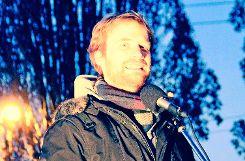 SÖS-Stadtrat Hannes Rockenbauch hat die Demonstranten bestärkt. Foto: Pehar