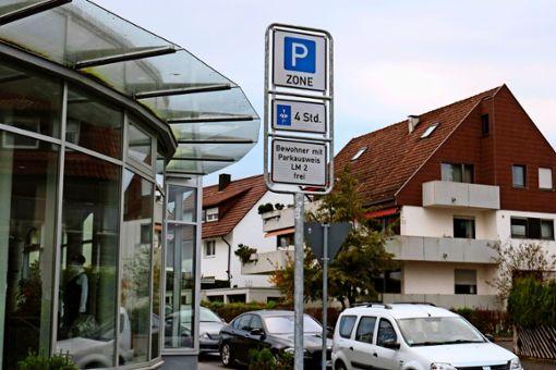 Neue Parkzone für Anwohnerparken in  Leinfelden.  Foto: Eva Herschmann