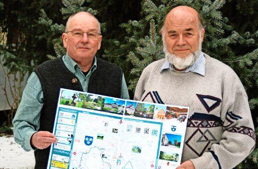 Michael Isakeit (1. Vorsitzender) und Walter Haag (2. Vorsitzender) des Schwäbischen Albvereins Ortsgruppe Plieningen-Birkach Foto: max