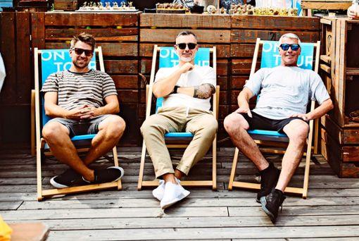 """Die drei Geschäftsführer des Clubs """"Schräglage"""":  Heiko Fuhrer,  Armen Shala, Heiko Grelle (von links) Foto: z/privat"""
