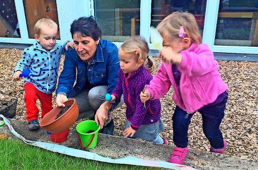 Betreut spielen ohne Eltern können Kinder von 18 Monaten bis drei Jahre in der Spielgruppe Filderschiffle. Foto: Evangelisches Familienzentrum