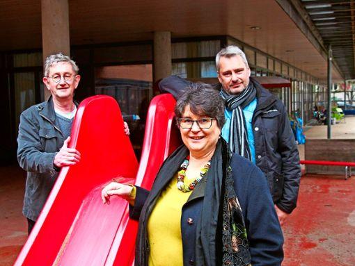 Henning Schläger, Dagmar Bauer und Hubert Janocha (v.l.n.r.) kämpfen für eine gemeinsame Sorgepflicht. Foto: Sass-Baitis