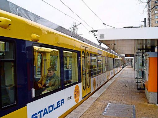 Die neue Stadtbahnlinie U16 startet an der Haltestelle Giebel. Foto: Melanie Axter